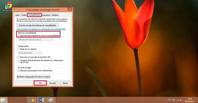 Google Chrome será executado perfeitamente no Windows 8 e 8.1 (Reprodução/Karla Freire)