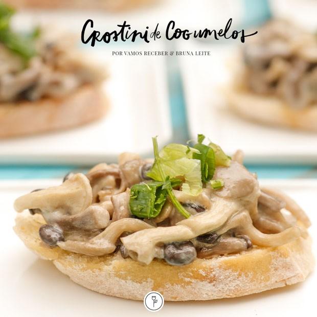 Crostini de cogumelos com azeite trufado: veja como fazer o aperitivo (Foto: Julio Acevedo)