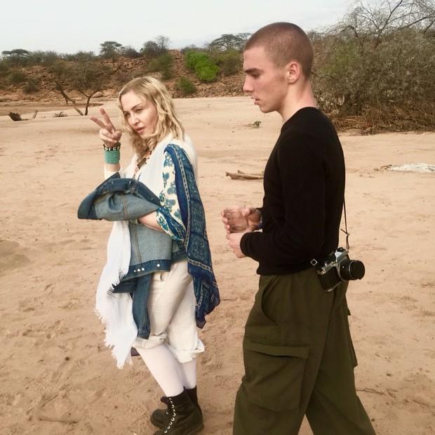Madonna e Rocco (Foto: Reprodução/Instagram)