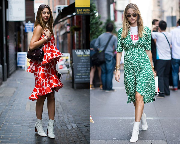Combine a bota branca com vestidos estampados (Foto: Imaxtree)