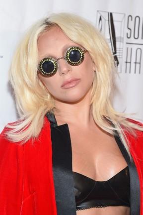 Lady Gaga em evento em Nova York, nos Estados Unidos (Foto: Michael Loccisano/ Getty Images/ AFP)