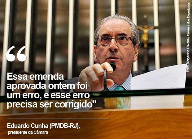 O presidente da Câmara, Eduardo Cunha (PMDB-RJ), preside sessão no plenário principal da Casa (Foto: Maryanna Oliveira / Câmara dos Deputados)
