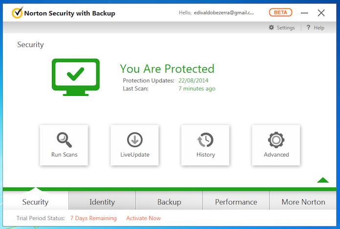 Security centraliza as opções de segurança do novo programa (Foto: Reprodução/Edivaldo Brito)