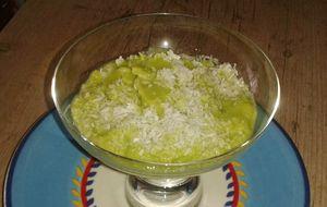 Creme de abacate proteico