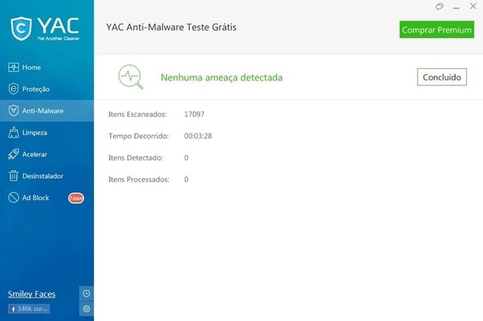 Tela mostra que rootkit e outros malwares foram eliminados do PC (Foto: Reprodução/Raquel Freire)