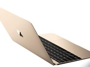 Novo MacBook chega na versão dourada, prata e cinza espacial, acompanhando as cores disponíveis para o iPhone (Foto: Divulgação/Apple)