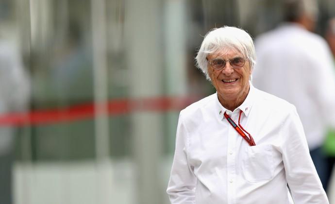 Bernie Ecclestone no Autódromo de Interlagos (Foto: Getty Images)