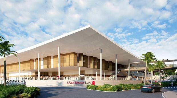 Projeção do São Paulo Expo após a reforma (Foto: Divulgação)