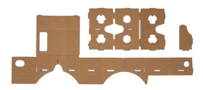 Papelão cortado com as formas do Google Cardboard (Foto: Divulgação/Google)