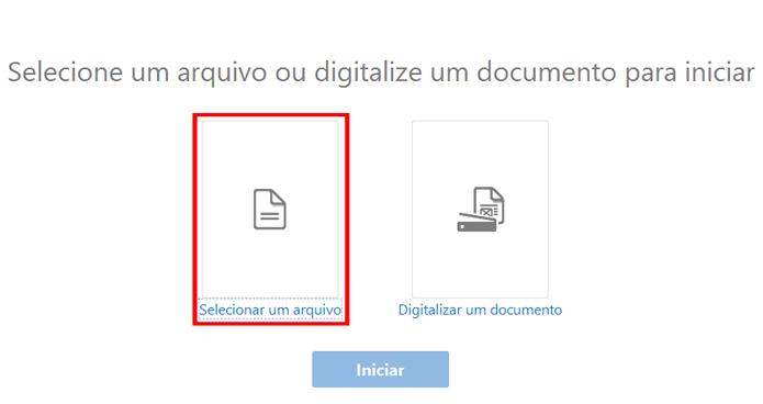 Aplicativo permite reconhecer texto em imagens ou digitalizar documentos (Foto: Reprodução/Acrobat)