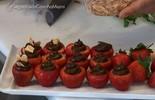 Morango recheado com com abacate e chocolate, uma delícia