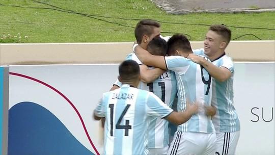 Argentina marca no início e no fim e vence a Colômbia no hexagonal