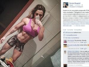 Fisiculturista Renata Muggiatti morreu ao cair da janela de apartamento onde morava (Foto: Reprodução/Facebook)