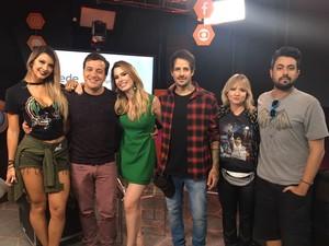 Rafael Cortez e convidados da Mesa-Redonda de quarta, 12/4 (Foto: Gshow)