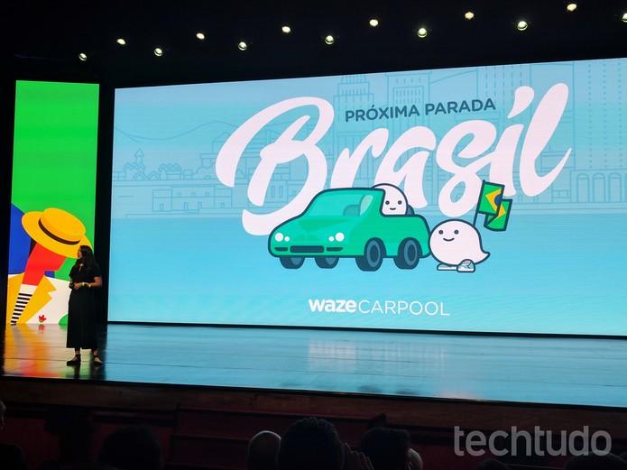 Di-Ann Eisnor, executiva do Waze, apresenta Carpool em evento do Google  (Foto: Melissa Cruz/TechTudo)
