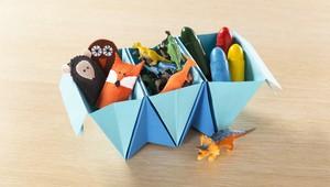 Aprenda a fazer um organizador com dobradura