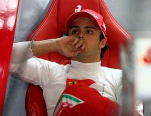 Felipe Massa ficou à frente do companheiro Fernando Alonso e marcou o 3º melhor tempo (Foto: Getty Images)