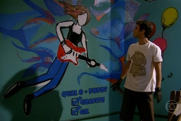 Gil + grafite = fofura (Foto: Malhação / TV Globo)