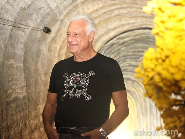 Antonio Fagundes não resistiu ao convite para repedir parceria de sucesso com Luiz Fernando Carvalho (Foto: Carol Caminha/TV Globo)