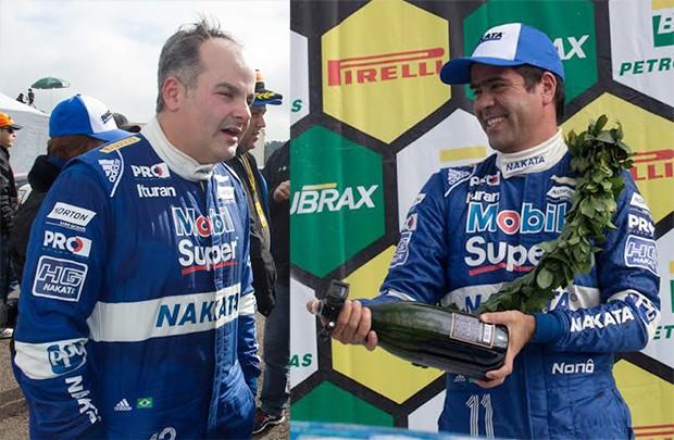 Os pilotos da nave, Marcio Basso e Nonô Figueiredo, no campeonato brasileiro de marcas de 2016. (Foto: Divulgação)