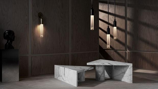 o estúdio de design Apparatus lançou duas séries de luminárias, Circuit e Tassel, e uma de móveis, a Portal (Foto: divulgação)