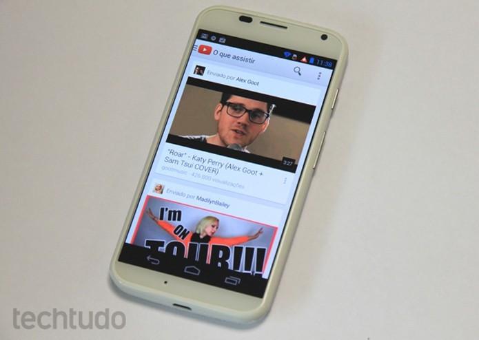 Aplicativo oficial do YouTube roda no Galaxy Ace (Foto: Elson Souza/TechTudo)
