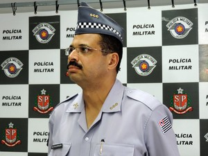 Coronel Leopoldo Júnior comentou atentados a policiais (Foto: Vinícius Pacheco/G1)
