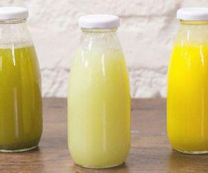 Suco refrescante de melão com limão e hortelã