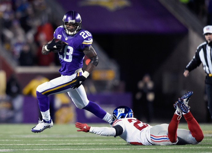 Adrian Peterson Minnesota Vikings New York Giants (Foto: Getty Images)