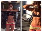 Mayra Cardi exibe barriga sequinha para dar bom dia a seguidores