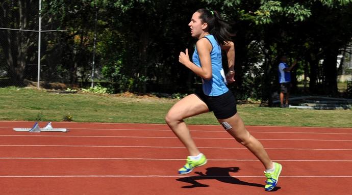 Gabriela Ferreira, nova recordista brasileira nos 400m  (Foto: Edson Cavalli/ADD-MS)