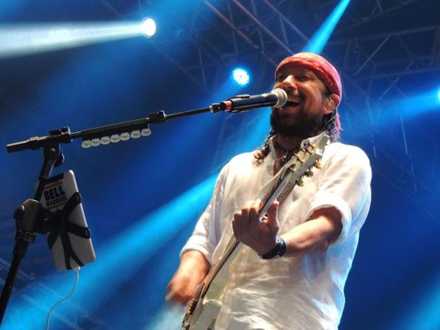 No show solo, Bell Marques apostou na banda e os fãs aprovaram (Foto: Luna Markman/G1)