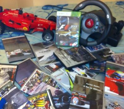 Além das 250 corridas, o colecionador guarda documentários e games (Foto: Marcos Paulo Teles Xavier / Arquivo Pessoal)