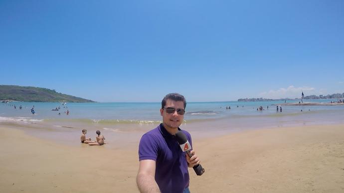 Confere esse visual em uma das praias  (Foto: Divulgação / TV Gazeta ES)