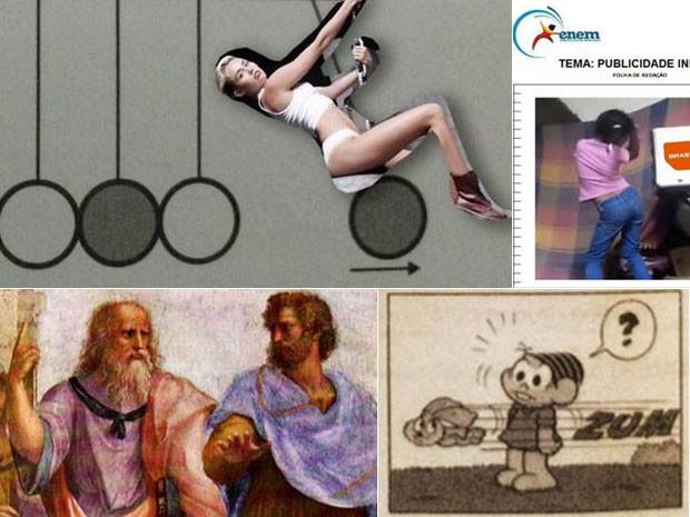 Memes e piadas sobre o Enem estavam entre os temas mais comentados nas redes sociais (Foto: Reprodução/Twitter)