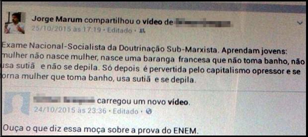 Postagem do promotor de Sorocaba causou polêmica (Foto: Divulgação/Imprensa SMetal)