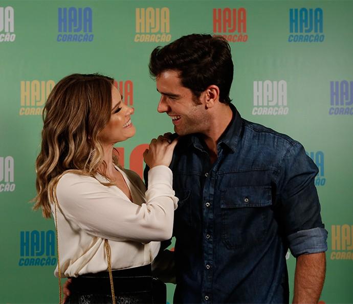 Karen Junqueira e Marcos Pitombo farão par romântico na novela; eles serão os namorados Jéssica e Felipe (Foto: Ellen Soares/ Gshow)