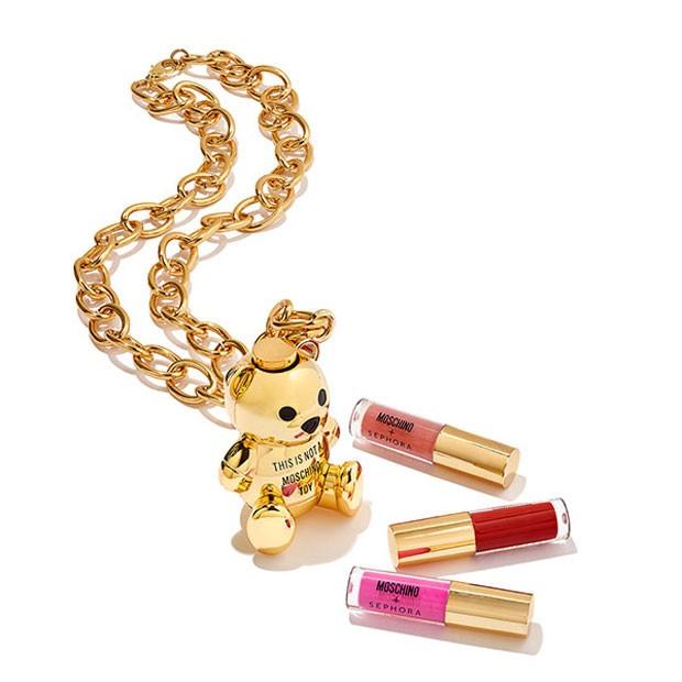 Lipgloss da coleção da Moschino em parceria com a Sephora (Foto: Reprodução/Instagram)