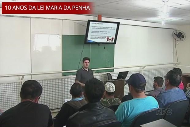 Condenados na Lei Maria da Penha fazem 'aulas de comportamento' no Paraná; estado só tem dados de processos em andamento (Foto: Reprodução/ RPC)
