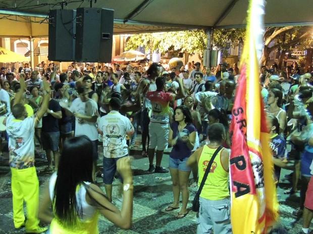 Grupo show da Copa Lord irá samba com a Coloninha no Estreito (Foto: Mariana de Ávila/G1)