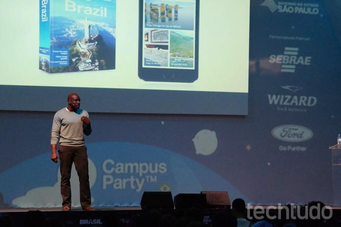 Ime Archibong, diretor de Parcerias Estratégicas do Facebook, na Campus Party Brasil (Foto: Melissa Cruz/TechTudo)