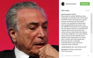 Post de Johnny Massaro (Foto: Reprodução/Instagram)