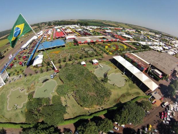 Imagens aéreas mostram a extensão do Show Rural (Foto: Show Rural/Divulgação)
