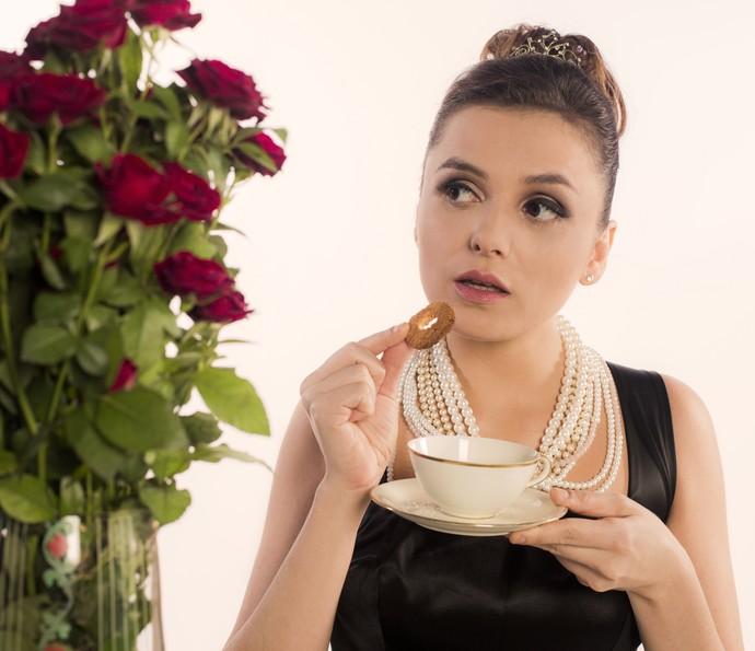 Monica Iozzi homenageia Audrey Hepburn (Foto: Inácio Moraes/ Gshow)