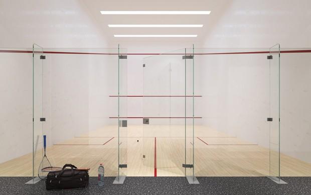Quadra de squash do 70 Vestry, prédio de luxo em Nova York (Foto: Divulgação/Related)