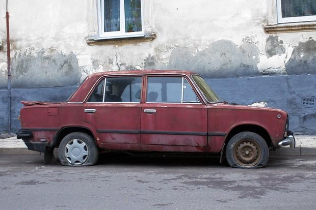 Carro abandonado (Foto: Divulgação)