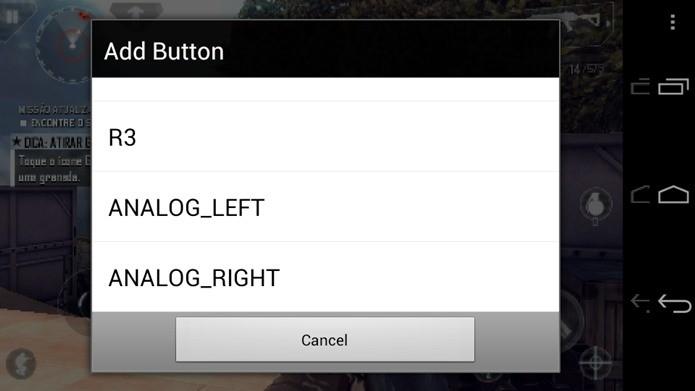 Toque em Add button e vá adicionando os botões que você achar necessário (Foto: Reprodução / Dario Coutinho).