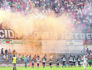 Torcida do Estrela do Norte, no Sumaré (Foto: Gildo Loyola/Cedoc A Gazeta)