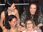 Letícia Lima e Ana Carolina curtem festa de Réveillon juntas