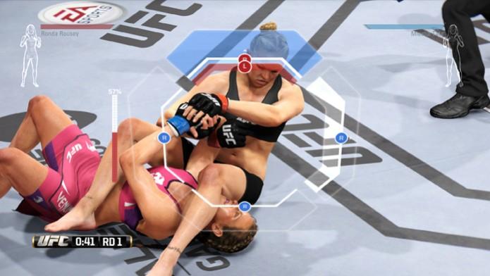 EA Sports UFC terá controles específicos para realizar ou se defender de uma submissão. (Foto: Divulgação) (Foto: EA Sports UFC terá controles específicos para realizar ou se defender de uma submissão. (Foto: Divulgação))